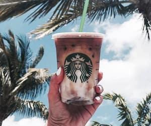 starbucks, coffee, and summer image