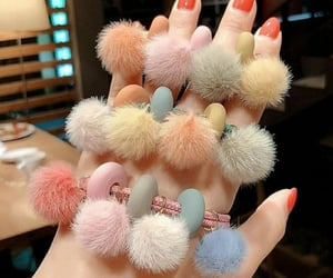 aesthetic, girly, and pompom image