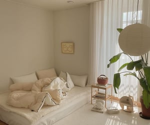 bedroom, beige, and design image