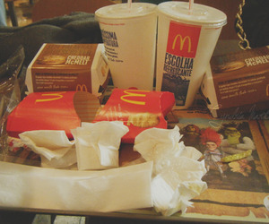 mess, mc donalds, and lunch image