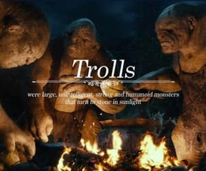 the hobbit, tolkien, and trolls image