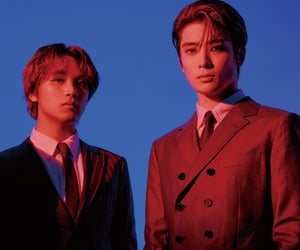 blue, duo, and haechan image