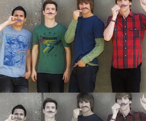 big time rush, mustache, and kendall schmidt image