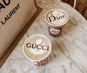coffee, dior, and gucci image