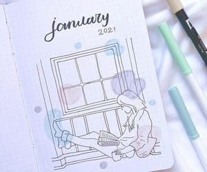 bullet journal, journal, and note image