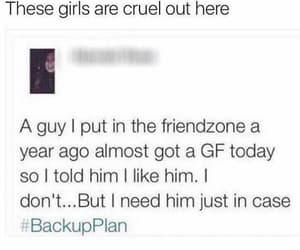 funny, evil, and friendzone image