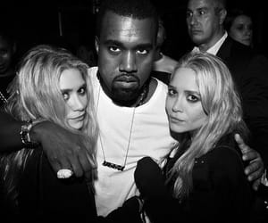 ashley olsen, kanye west, and mary kate olsen image