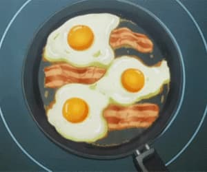 breakfast, gifs, and anime image