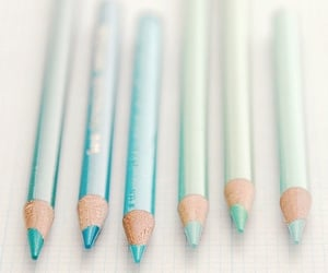 blue, green, and pastel image
