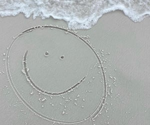 aesthetic, smile, and beach image
