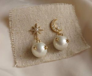 earrings, pearls, and fashion image