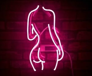 body, girl, and neon sign image