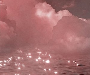 pink, aesthetic, and clouds image
