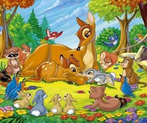 bambi, momma, and woods image