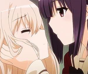 amor, girls, and kiss image