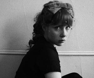 black and white, girl, and vintage image