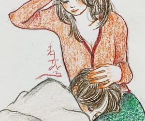 art, boy, and hug image