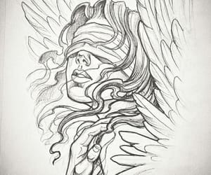 angel, draw, and pencil image