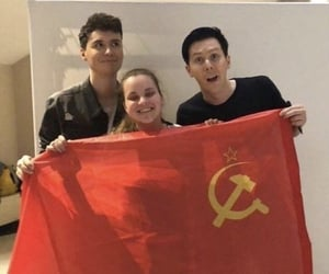 dan and phil and communist image