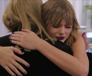 dress, hug, and Taylor Swift image