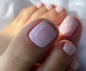 nail art, pedicure, and toes image
