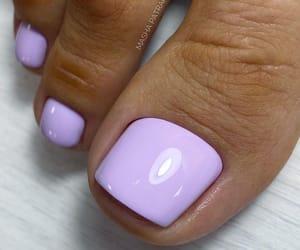 feet, nail art, and gel nails image
