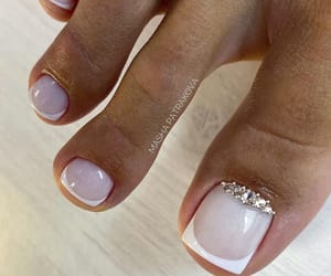 nail art, pedicure, and toes image