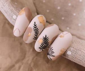 aesthetics, short nails, and matte nails image