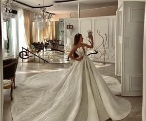 wedding, bride, and fairytale image