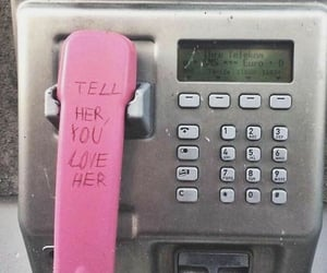 love, phone, and pink image