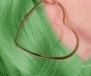aesthetic, earrings, and green image