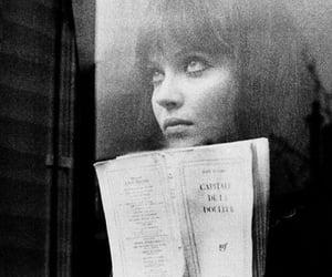 anna karina, book, and black and white image