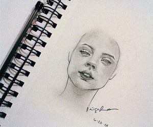 charcoal, face, and female image