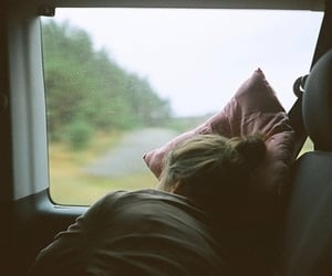 girl, sleep, and travel image