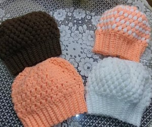 beanie, crochet, and hat image