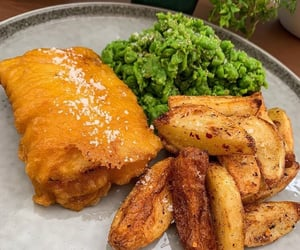 Homemade fish and chips with mushy peas @big_welsh_man