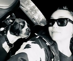 black and white, miley, and cyrus image