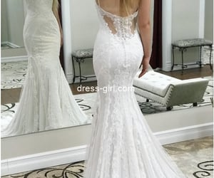 bridal gown, wedding dress, and bride dress image