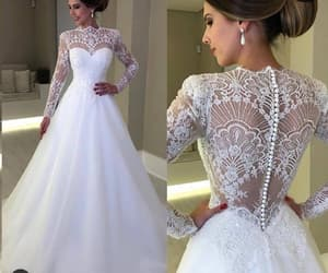 wedding gown, vestido de novia, and a line wedding dress image