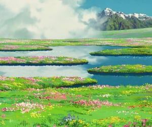 howl's moving castle, animation, and anime image