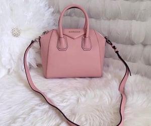 bags, handbags, and rose image
