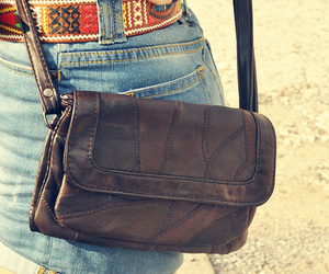 bag, leather, and vintage image