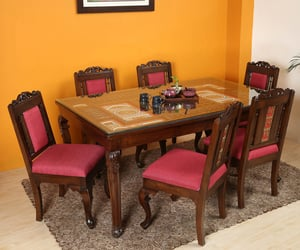 wooden dining table, dining table set, and dining table designs image