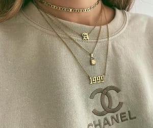 chain, chanel, and gold image