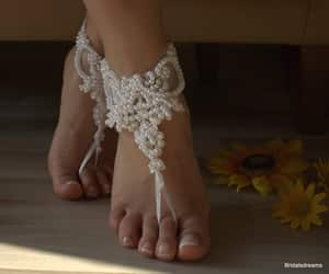 etsy, anklet, and wedding sandals image