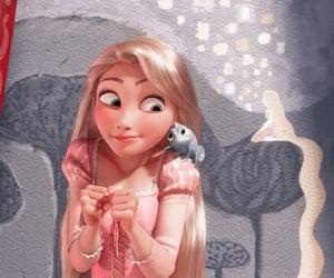 animation, movie, and rapunzel image