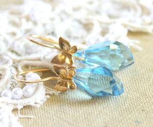 blue, elegant jewelry, and earrings image