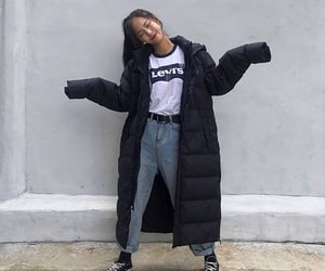 black, jackets, and outfits image