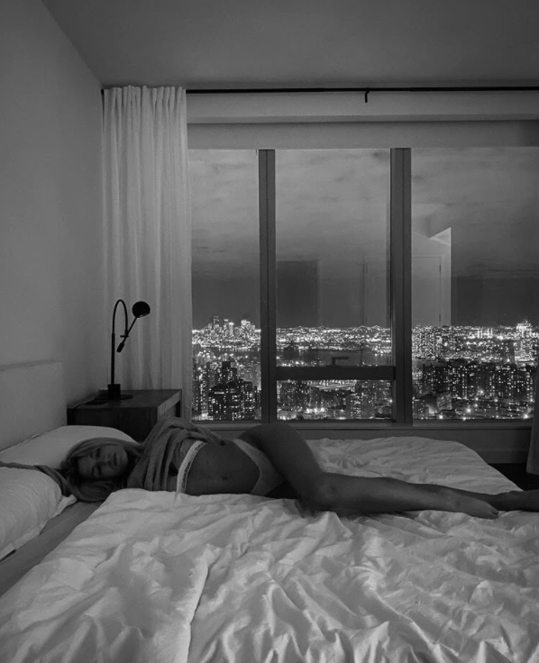 city, apartment, and bed image