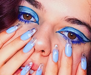 azzurro, eyes, and unghie image
